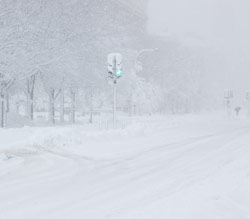 A blizzard in Washington, DC