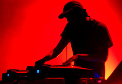 DJ performing at a nighclub.