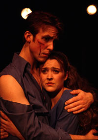 Tony and Maria in a 2001 production of West Side Story