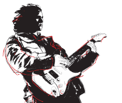 Illustration of a guitarist