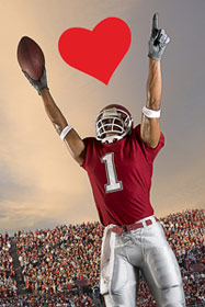 Valentine's Day Football