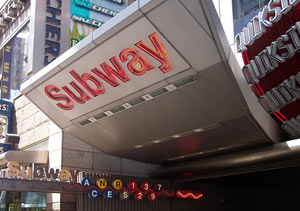 A subway station in New York City